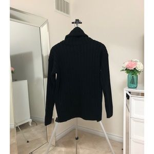 Lord & Taylor Sweaters - BLACK LORD & TAYLOR COWLNECK SWEATER